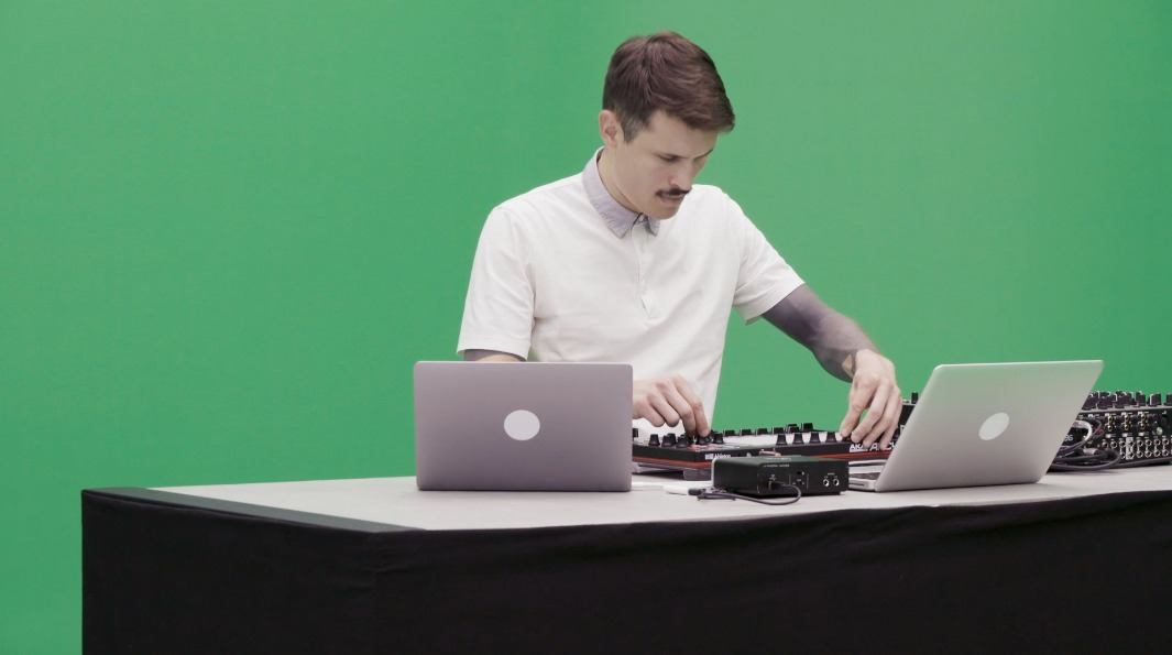 music performance green screen studio