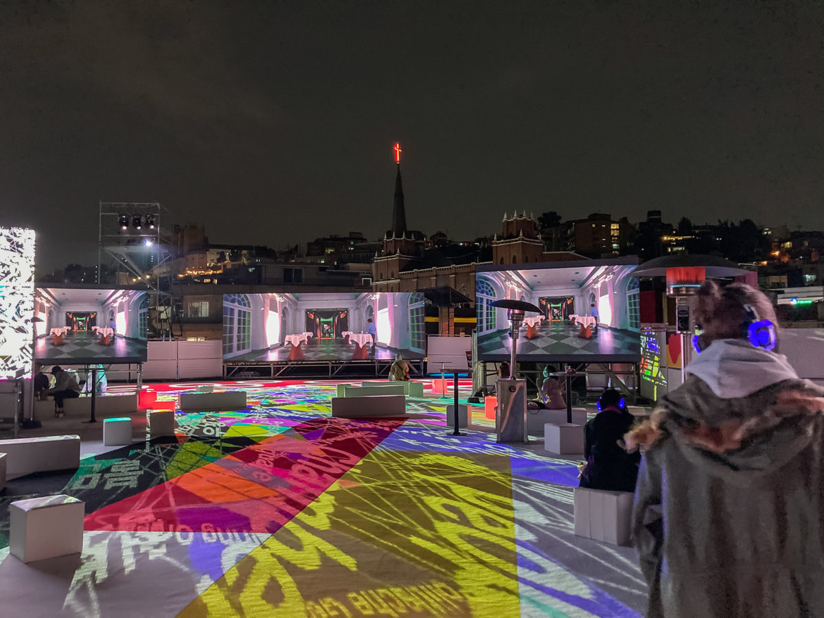 hybrid event on rooftop in seoul
